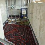 Podlahové vykurovanie v kúpeľni + závesný systém WC