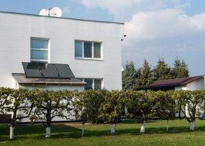 Kolektory na plochej streche